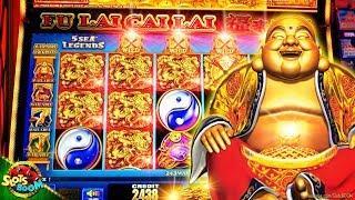 Bonuses & BIG WIN!!! Fu Lai Cai Lai - 5 Sea Legends 1c Aruze Gaming Slot San Manuel Casino