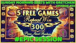 5 DRAGONS HIGH LIMITS MAX BET SESSION EPIC COMEBACK SUNDAY MORNING SLOTS WITH GRETCHEN EPISODE #10
