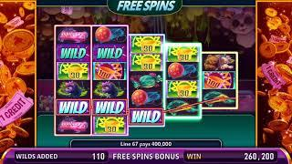 SKEE-BALL Video Slot Casino Game with a PRIZE TICKET FREE SPIN BONUS