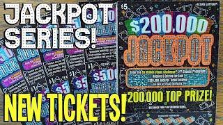 JACKPOT SERIES  **NEW TICKETS** 25X $5,000 Jackpot + 10X $200,000 Jackpot  TEXAS LOTTERY