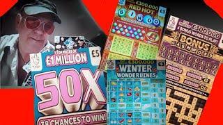 Scratchcards..50X CASH..WONDERLINES..CASHWORD BONUS..REDHOT BINGO