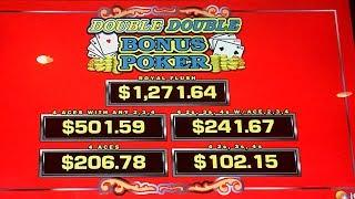HUGE WIN - Video Poker Double Double Bonus Progressive - Live Play!