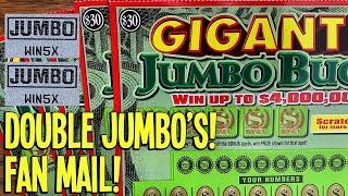 DOUBLE JUMBO'S! GIGANTIC FAN MAIL! $150 Gigantic Jumbo Bucks  Tennessee Lottery Scratch Offs