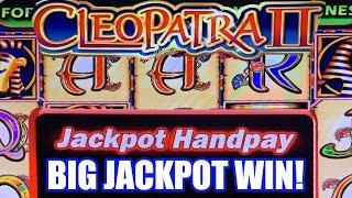 HIGH LIMIT CLEOPATRA 2 SLOT JACKPOT!  MASSIVE WIN HANDPAY!