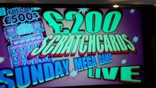 "SCRATCHCARDS""CASHWORD""50X CASH""CASH 7s""GOLD 7s""SPIN £100"