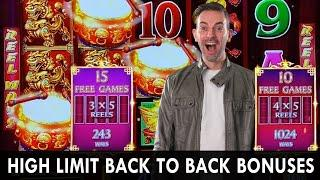 HIGH LIMIT Back to Back BONUSES  NEW Ultimate Fire Link  Big Bets @ Cosmo Las Vegas