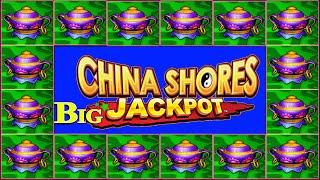 40 SPINS LEADS TO BIG JACKPOT! CHINA SHORES HIGH LIMIT SLOT MACHINE