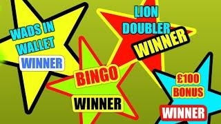 FANTASTIC GAME..AND WINNERS.. MONOPOLY..£100  BONUS..LION DOUBLER..CASHWORD..WADS IN WALLET...