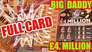 •Big Daddy•.£4.Million Scratchcard game•&•FULL Card.•who is Guest Star?•