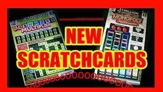 "NEW SCRATCHCARDS ""MONOPOLY MILLIONAIRE ""CASHWORD MULTIPLIER"