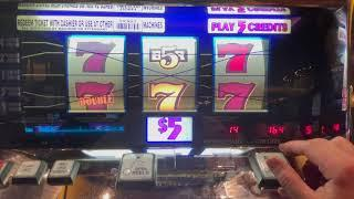 Double Gold 5 Line - $25/Spin - Old School High Limit Slot Play - Seminole Hard Rock Tampa