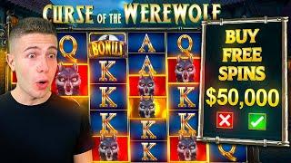 HUGE $50,000 CURSE OF THE WEREWOLF MEGAWAYS BONUS BUY  ft.@Foss & JuicyFruityyy