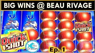 UNEXPECTED SUPER BIG WIN! BEAU RIVAGE CASINO TRIP DAY 1! QUICK SHOTS GALORE! QUICK HITS WINNING!