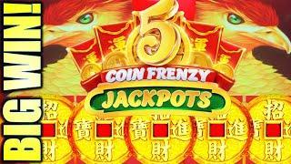 SUPER BIG WIN! WOW!! FRENZY MODE! 5 COIN FRENZY JACKPOTS (EIGHT PHOENIX) Slot Machine (Aristocrat)