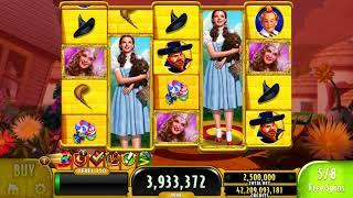 THE WIZARD OF OZ YELLOW BRICK ROAD Video Slot Casino Game with an EPIC WIN FREE SPIN BONUS