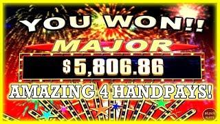 AMAZING HIGH LIMIT SLOTS ACTION! 4 HANDPAYS INCLUDING A MAJOR JACKPOT!