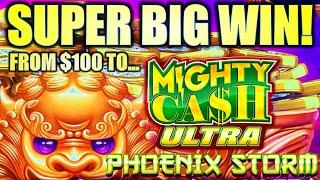 STARTED WITH $100 AND CASH OUT AT???  PHOENIX STORM MIGHTY CASH ULTRA Slot Machine