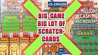 """BIG GAME LOTS SCRATCHCARDS """"CASH SPECTACULAR"""" MONEY KINGDOM"""
