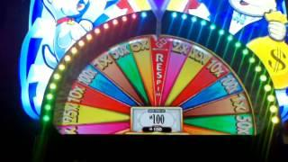 WMS Super Monopoly Money Top Possible Prize money wheel!! Nice WIN!