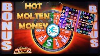 Hot Molten Money Slot Machine - Reel Intensity WMS - Nice Win!