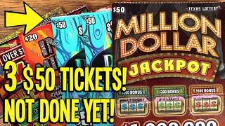 $280/Tickets NOT DONE YET!  Playing 3 $50 TICKETS + A BUNCH OF $20's  Texas Lottery Scratch Offs