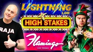 FLAMINGO LAS VEGAS Handpay Action  PIFF The Magic Dragon Joins for Lightning Link!