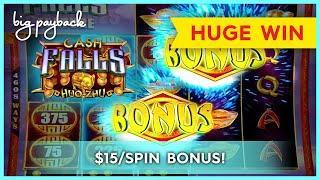 GREAT BONUS! Cash Falls Huo Zhu Slot - HUGE WIN, LOVED IT!