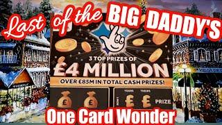 BIG DADDY.....Last of the£4.Million £10 Scratchcards...... One Card Wonder Game