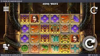 Ecuador Gold slot ELK Studios - Gameplay