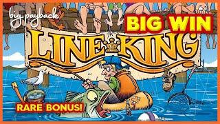 RARE MAX BET BONUS! Line King Slot - I ALMOST HAD IT ALL!