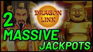 Dragon Link Happy Prosperous & Golden Century (2) MASSIVE HANDPAY JACKPOTS ~ $125 Bonus Slot Machine