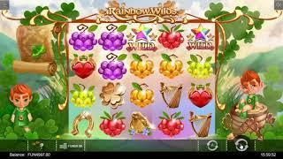 Rainbow Wilds slot from Iron Dog Studio - Gameplay