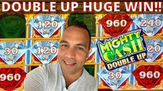 MIGHTY CASH DOUBLE UP HUGE WIN!! Must see these red jewels!!
