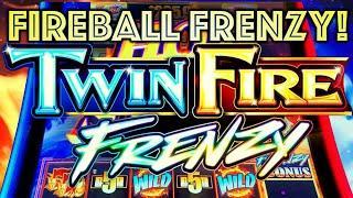 "FIREBALL FRENZY! ️""HOT STUFF"" WIN! TWIN FIRE FRENZY $6.00 BET BONUS Slot Machine (SG Gaming)"
