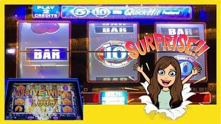 QUICK HITS SLOTS - 5 Times Pay/10 Times Pay Slot Machine and New Slot (to me) WOLF RUN GOLD!