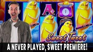 PREMIERE LIVE  NEW Sweet Tweet Drop & Lock SLOT MACHINE   Hitting GOLD!