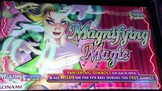 ** BIG WIN ** Konami Magnifying Magic slot machine free spin bonus