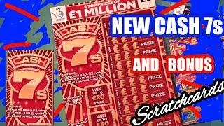 NEW  CASH 7s Millions..Scratchcard. and Bonus Cards...(One Card Wonder)Game