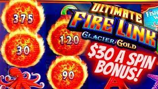 High Limit ULTIMATE Fire Link Slot Machine $30 Bet Bonus | Deep Sea Magic Slot | SE-10 | EP-1