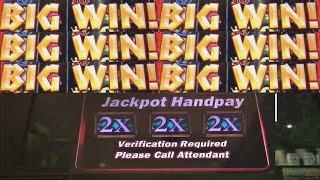 2 JACKPOT HANDPAY'S CAUGHT LIVE! PROWLING PANTHER SLOT MACHINE!