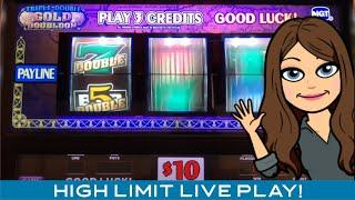 Triple Double Gold Doubloon, High Limit, $15/$30 Bets! Max Bets!