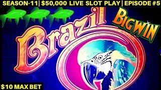 Brazil Slot Machine $10 Max Bet Bonuses & Big Wins - Great Session   SEASON-11   EPISODE #5