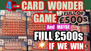 Special 4 Scratchcard Wonder.Game..and if we get any win..we will Do a Full of £500s as Well
