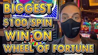 $100 a SPIN  DOUBLE BONUS on Wheel of Fortune - My BIGGEST WIN on it!