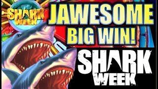 JAWESOME BIG WIN! $4.00 MAX BET! SHARK WEEK - JAWS OF STEEL  Slot Machine Bonus (EVERI)
