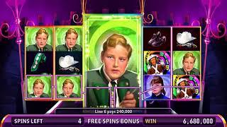 WILLY WONKA: THE GOLDEN TICKET Video Slot Casino Game with a WONDROUS BOAT RIDE FREE SPIN  BONUS
