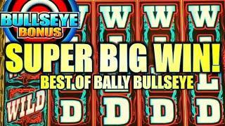 SUPER BIG WIN! LOCKED WILD REELS!!  BEST OF BALLY BULLSEYE Slot Machine (BALLY / SG)