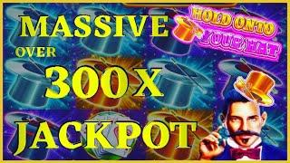 HIGH LIMIT Lock It Link Hold Onto Your Hat MASSIVE HANDPAY JACKPOT  Bonus Round Slot Machine Casino