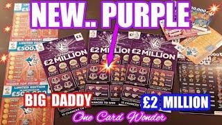 NEW..PURPLE £2 Million BIG DADDY Scratchcard  and Bonus Cards.. mmmmmmMMM..says