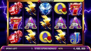 THUNDER CASH Video Slot Casino Game with a THUNDER CASH FREE SPIN BONUS
